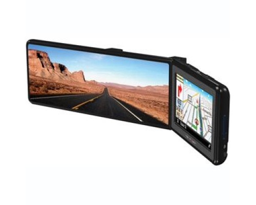 Discontinued - Power Acoustik MNAV-43B 4.3 Inch Touch Screen TFT LCD Universal Clip On Rear View Mirror Monitor with Navigation and Bluetooth