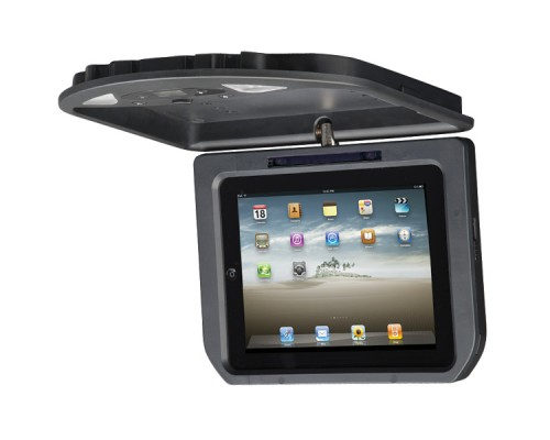 Discontinued - Quality Mobile Video MV-IPAD2-KC Overhead Roof Mount Flip Down Dock for IPAD, IPAD2 and The New IPAD