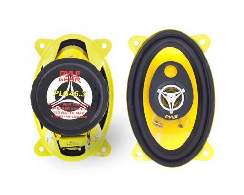 Pyle PLG46.3 4 x 6 Inch 3-Way Triaxial Car Speaker System - 180W Max