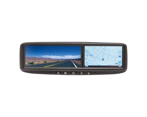 """Vizualogic 280-0001-002 Roadtrip rearview mirror monitor with built in 4.3"""" GPS Navigation system"""