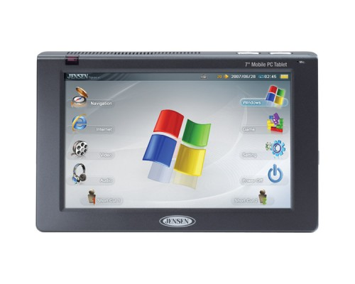 """Jensen 7"""" Windows XP Personal in car computer with navigation"""
