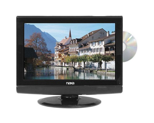 Naxa NX-556 Dual Power 19 Inch Widescreen HD LCD Television with Built In ATSC Digital TV Tuner and DVD Player