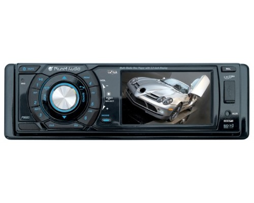 DISCONTINUED - Planet Audio P9680 Single DIN 3.2 Inch Widescreen Touchscreen LCD In Dash Monitor and DVD Multimedia 80w x 4 Receiver with USB, SD and AUX