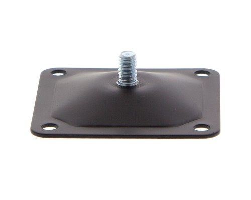 """Panavise 861 Square Mounting Base 2.5"""" x 2.5"""" with 1/4 x 20 thread - Black"""