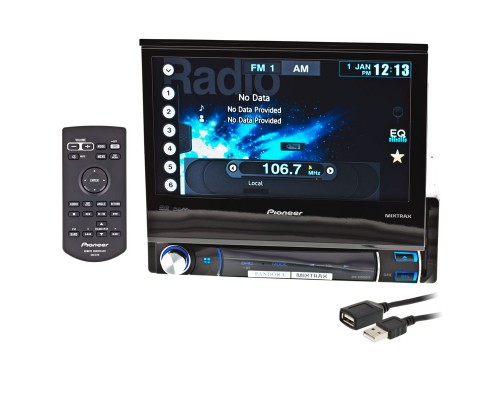 Pioneer AVH-X6500DVD Single DIN Flip Out Car Stereo - Main