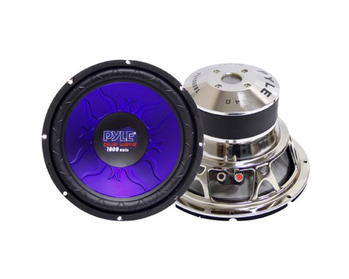 Pyle PL-1090BL Blue Wave Series High-Powered Subwoofer 10 Inch 1000W Max