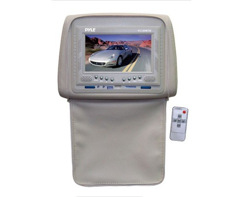 Pyle PL72HR 7 inch Headrest Monitor With Zipper Hide-Away Cover