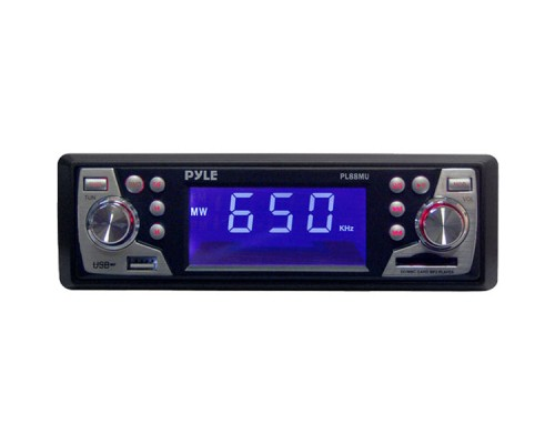 Pyle PL88MU In-Dash Car Stereo AM/FM-MPX Electronic Tunning Radio Car Stereo