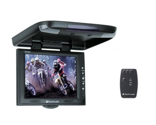 DISCONTINUED - Planet Audio P10.4VF 10.4 Inch Roof Mount Flip Down TFT LCD Monitor with Swivel Bracket and IR Transmitter