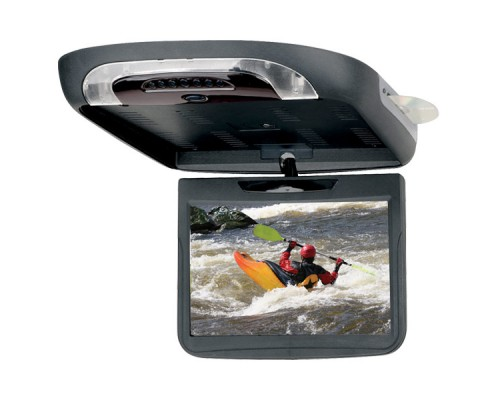 DISCONTINUED - Planet Audio P11.2AIO 11.2 Inch Roof Mount Flip Down TFT LCD Monitor with Built In Multimedia DVD Player and Housing-Monitor Options