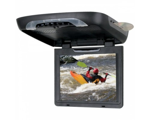 DISCONTINUED - Planet Audio P12.1AIO 12.1 Inch Roof Mount Flip Down TFT LCD Monitor with Built In Multimedia DVD Player and Housing-Monitor Options