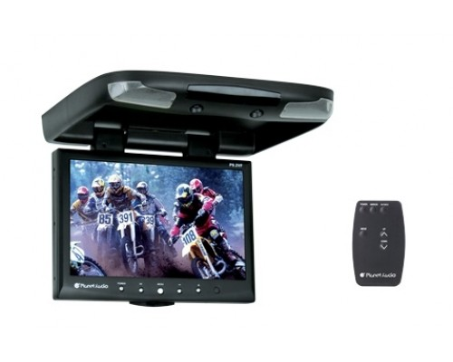 Planet Audio P9.2VF 9.2 Inch Roof Mount Flip Down TFT LCD Monitor with Swivel Bracket and IR Transmitter