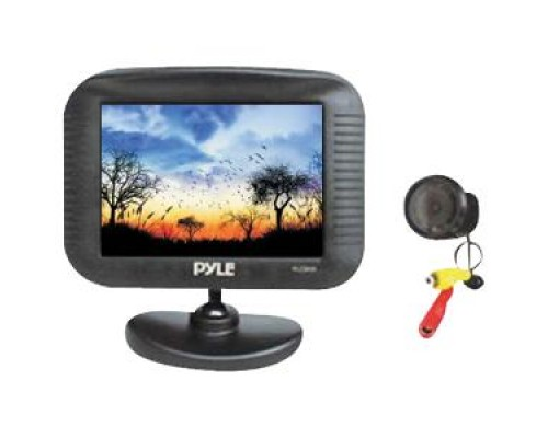 "DISCONTINUED - Pyle PLCM35 3.5"" TFT LCD Monitor with night vision back up camera kit"