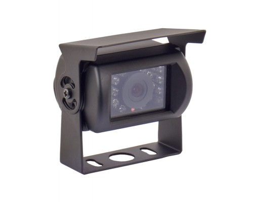 Pyle PLCMB20 Surface Mount Universal Infrared Adjustable Angle Rear View Back Up Camera with Anti-Glare Shield