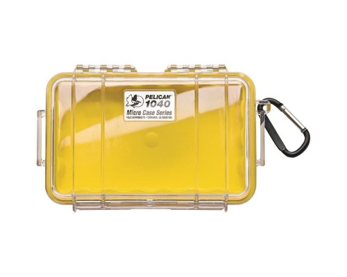 Pelican 1040-027-100 Micro Case Raven with Easy-Open Latch Yellow