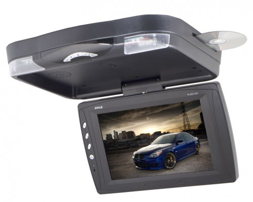 DISCONTINUED - Pyle PLRD133F 12.1'' Flip-Down LCD Monitor with Built-In DVD Player