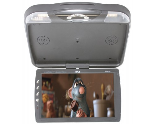 """DISCONTINUED - Pyle PLRD143F 13.3"""" overhead flip down monitor with integrated DVD player"""