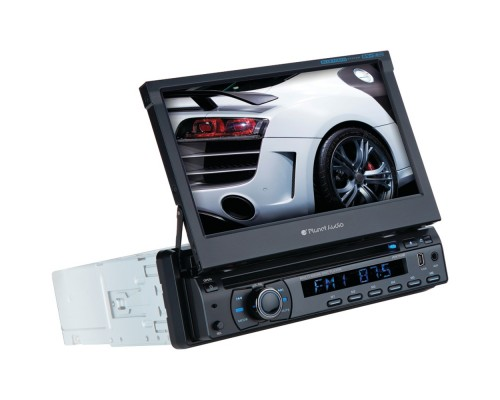 """Planet Audio PI9759B 7"""" Single-DIN In-Dash Motorized Flip-Out TFT Touchscreen DVD Receiver with Bluetooth®"""