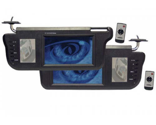 """Discontinued-Pyle PLVS-MR7 7"""" Driver and Passenger Side Replacement LCD Sun visor Monitor"""