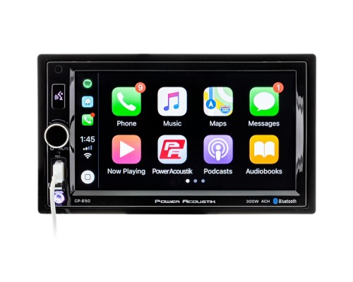 "Power Acoustik CP-650 Double DIN DVD Receiver with 6.5"" Touchscreen Display and Apple Carplay"