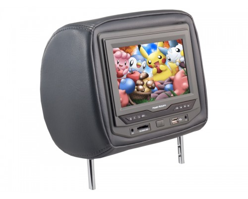 """Discontinued - Power Acoustik HDVD-73 7"""" Universal DVD Headrest Monitor"""