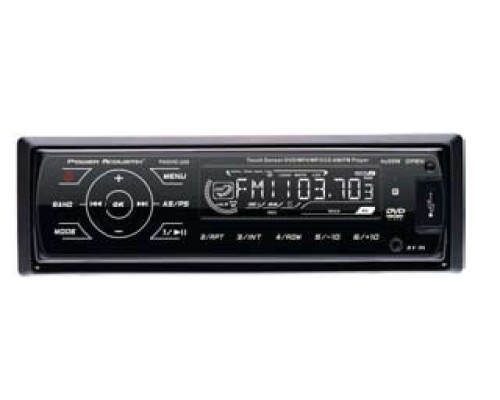 Power Acoustik PADVD-220 Single DIN In Dash Multimedia DVD Player - Front panel
