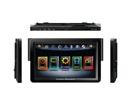 """Power Acoustik PD-718NB 7"""" INTEQ Nav-Ready In-Dash Single-DIN Touchscreen Multimedia Receiver with Bluetooth® & DVD"""