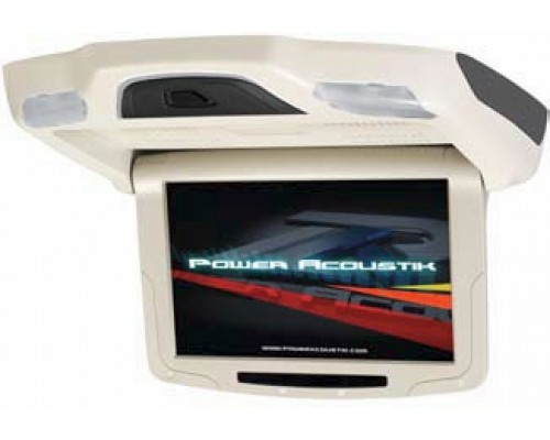 DISCONTINUED - Power Acoustik PT-92CMBG Beige 9 Inch Universal Roof Mount Flip Down Widescreen TFT LCD Monitor