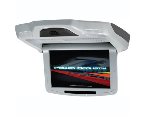 DISCONTINUED - Power Acoustik PT-92CMGR Grey 9 Inch Universal Roof Mount Flip Down Widescreen TFT LCD Monitor