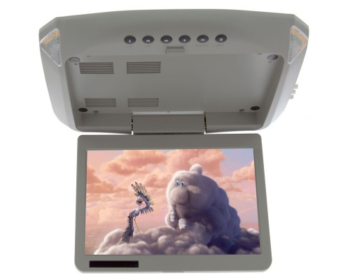 Vizualogic 1020 Overhead flip down monitor with DVD player-INCLUDES 2 Headphones - Front Profile