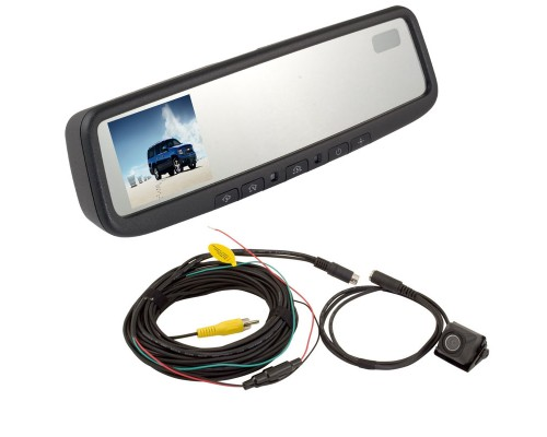 DISCONTINUED - Complete replacement rear view mirror monitor system
