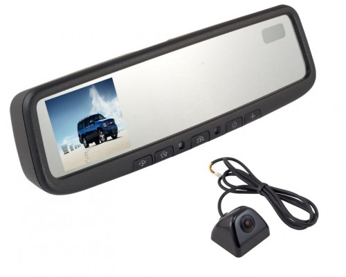 DISCONTINUED - Complete replacement rear view mirror monitor system pod camera