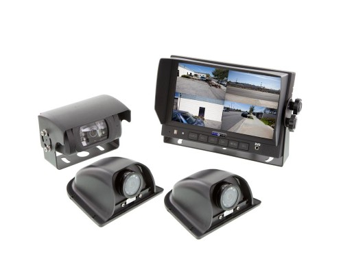 Safesight SC9001QSH3 Commercial back up camera system with three cameras
