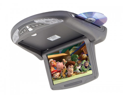 Discontinued - Savv LOH-5090DVD 9.5 Inch Widescreen Motorized Overhead Flip Down Monitor with Built in Slot DVD Player