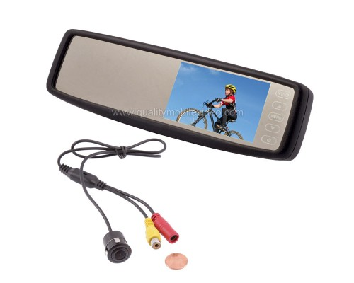"Safesight SC0302-SC4104 4.3"" Rear view mirror back up monitor with micro flush mount reverse camera"