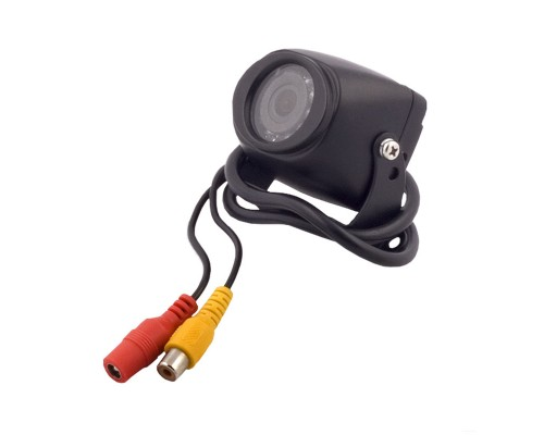 Safesight SC0103NR RV and Commercial Round Back Up Color CCD Camera with RCA Connector and Selectable Reverse Non-Reverse Image