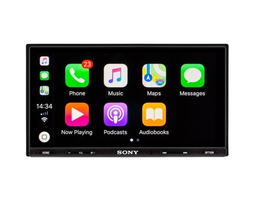 "Sony XAV-AX5000 Double DIN Digital Receiver with 6.95"" Capacitive Touchscreen Display, Apple Carplay and Android Auto - Main"