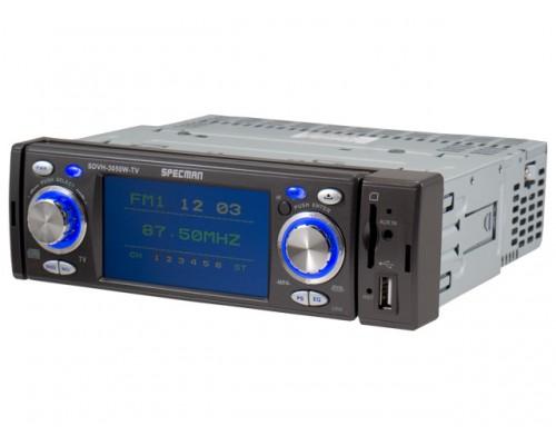 DISCONTINUED - Savv Specman SDVH-3050W-TV 3.5 Inch LCD Single DIN In Dash DVD Player
