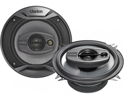 DISCONTINUED - Clarion SRQ1331R 5 1/4 Inch 3-Way Multiaxial Car Speakers Custom Fit (Pair - 200 Watts Peak Power)