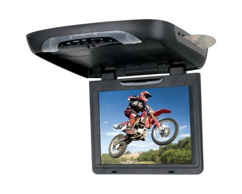 SoundStorm (SSL) S12.1C Flip Down Ceiling Mount 12.1 inch LCD Monitor with Built-in DVD Player and Snap on Color Skins