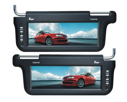 DISCONTINUED - Tview T102SV 10.2 Inch TFT LCD Sun Visor Monitor Pair