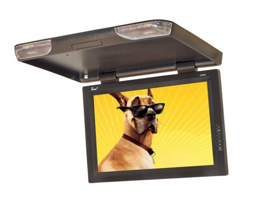 DISCONTINUED - Tview T256IR 25 Inch Roof Mount Flip Down LCD Monitor with IR Infrared Transmitter and Slim Mount Design