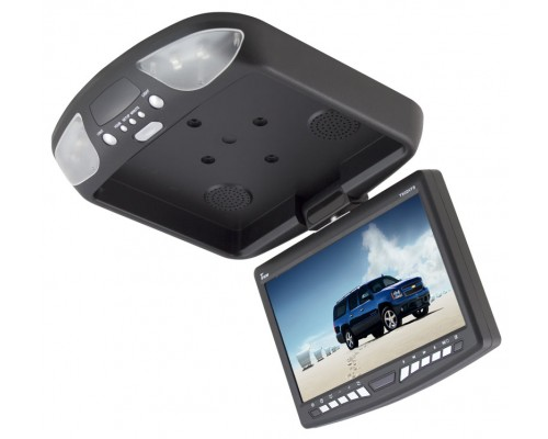 DISCONTINUED - Tview T90DVFD 9 inch Overhead Flip Down Monitor with Built In DVD Player