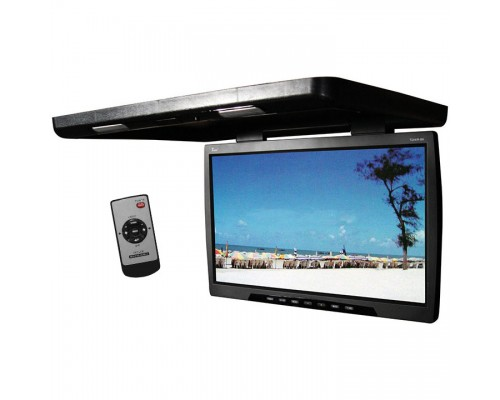 Tview T244IR 24 Inch Roof Mount Flip Down Monitor - Black