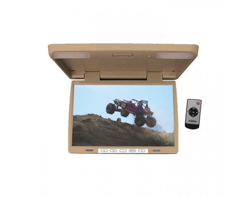 Tview T156IRTAN 15.4 Inch Roof Mount Flip Down LCD Monitor - Tan