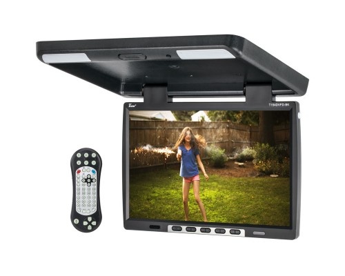 Tview T154DVFD-BK 15.4 inch LCD Car Flip Down DVD Monitor - Main