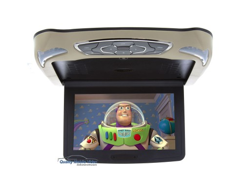 Vizualogic VZ11D 10.1 inch Overhead Flip Down Monitor with Built in DVD Player and USB and SD Card Reader-1