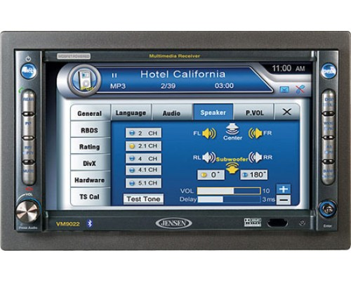 """DISCONTINUED - Jensen VM9022HD 7"""" In Dash Monitor with Built In DVD Player"""