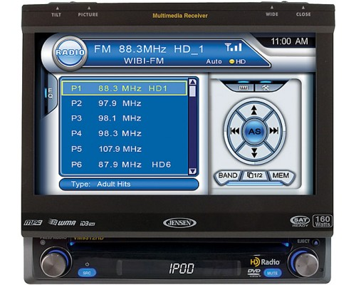 "DISCONTINUED - DISCONTINUED - Jensen VM9312HD 7"" In Dash Multimedia Center"