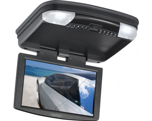 "DISCONTINUED - Clarion VT1000B 10"" LCD Overhead Monitor With DVD Player (Black Housing)"